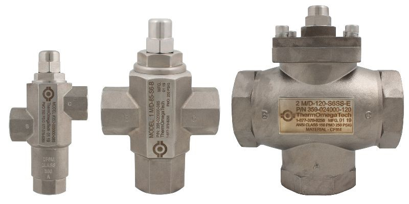 Group of thermal bypass valves