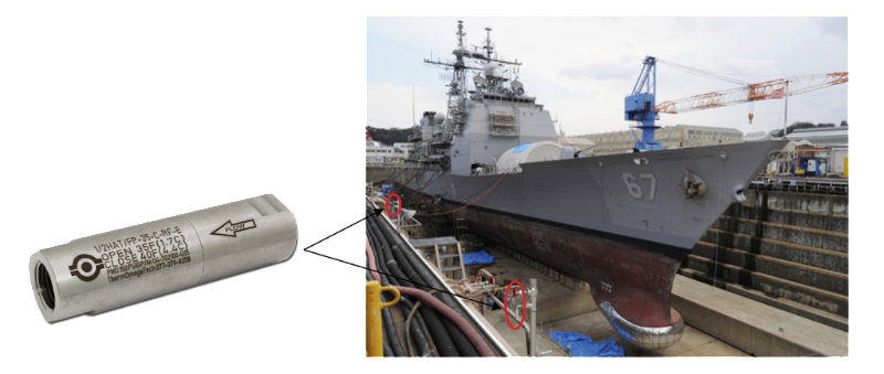HAT/FPs Installed On Dry-Dock Water Lines Freeze Protection For Dry-Docked Ships