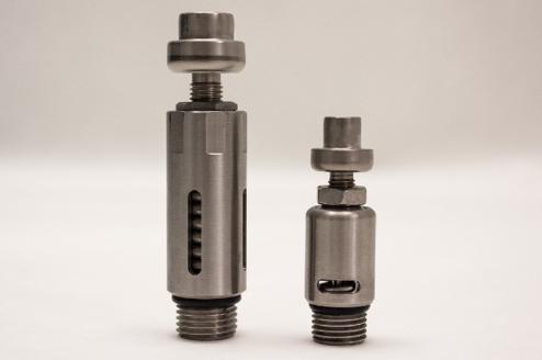 Left: modified valve   Right: stock valve