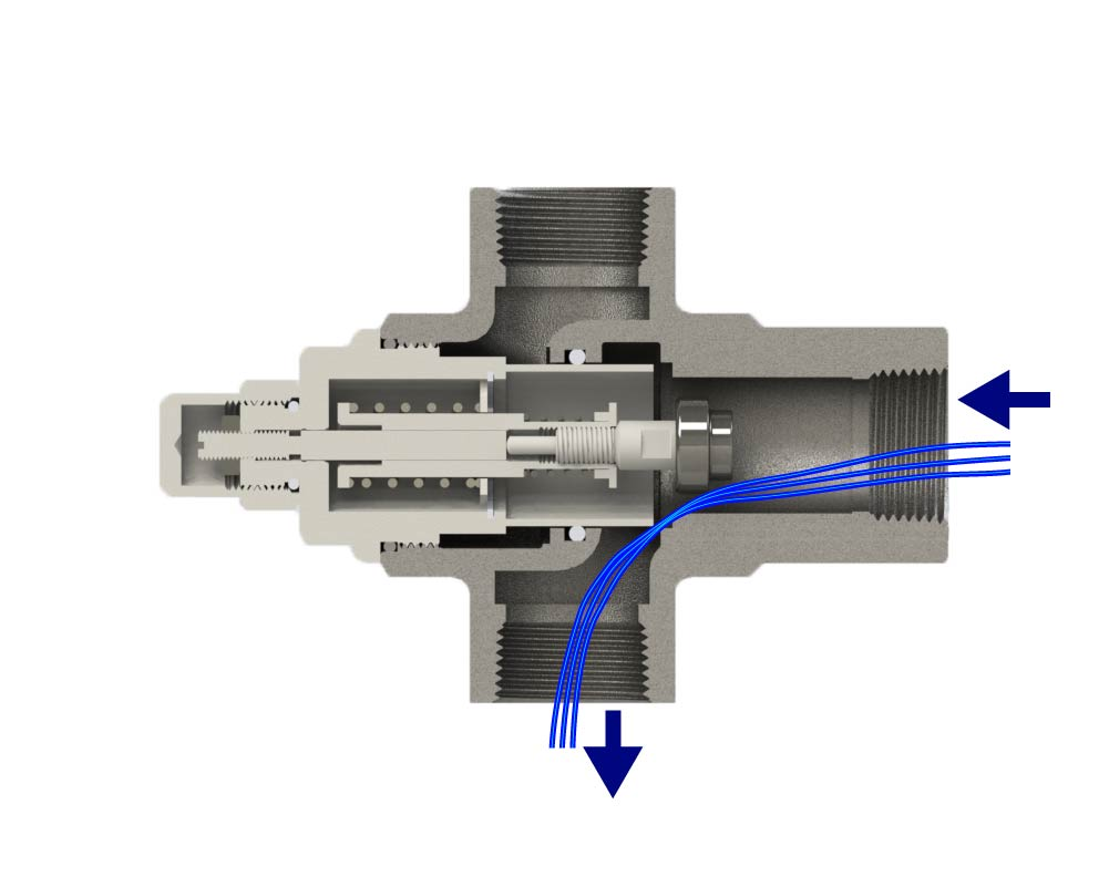Animation of Diverting Valve of Cold Temperature